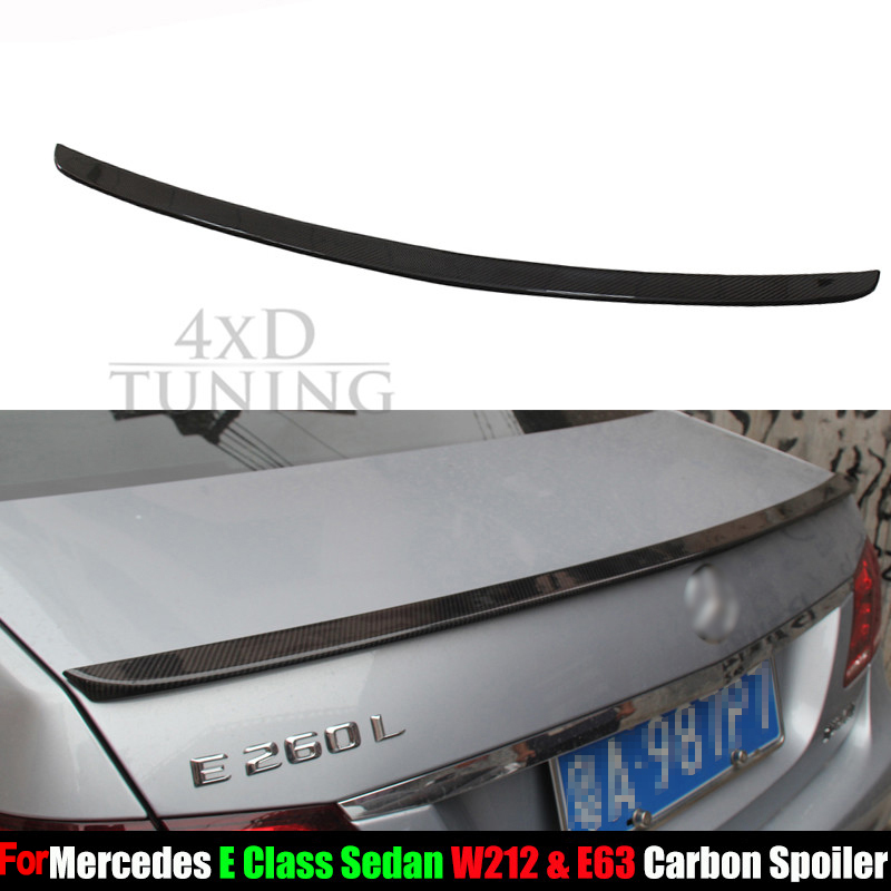 For Mercedes W212 Spoiler AMG Style E Class W212 E200 E250 E260 C63 Carbon Fiber Rear Spoiler Sedan Gloss Black Finish 2010-2016 amg style mercedes w204 carbon fiber rear trunk tail wing spoiler for benz c class w204 2007 2013 c180 c200 c300 c350 sedan