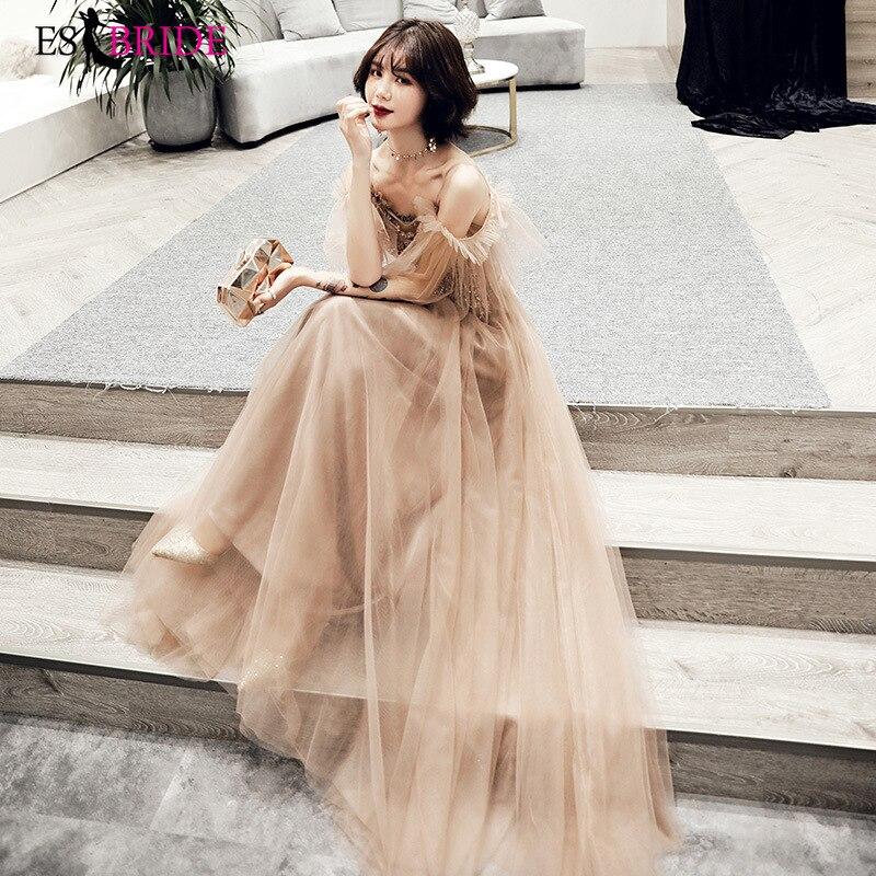 2019 Sexy   Evening     Dress   Party Women Elegant   Evening     Dresses   Long Formal Robe De Soiree Lace Appliques   Evening   Gowns ES2557