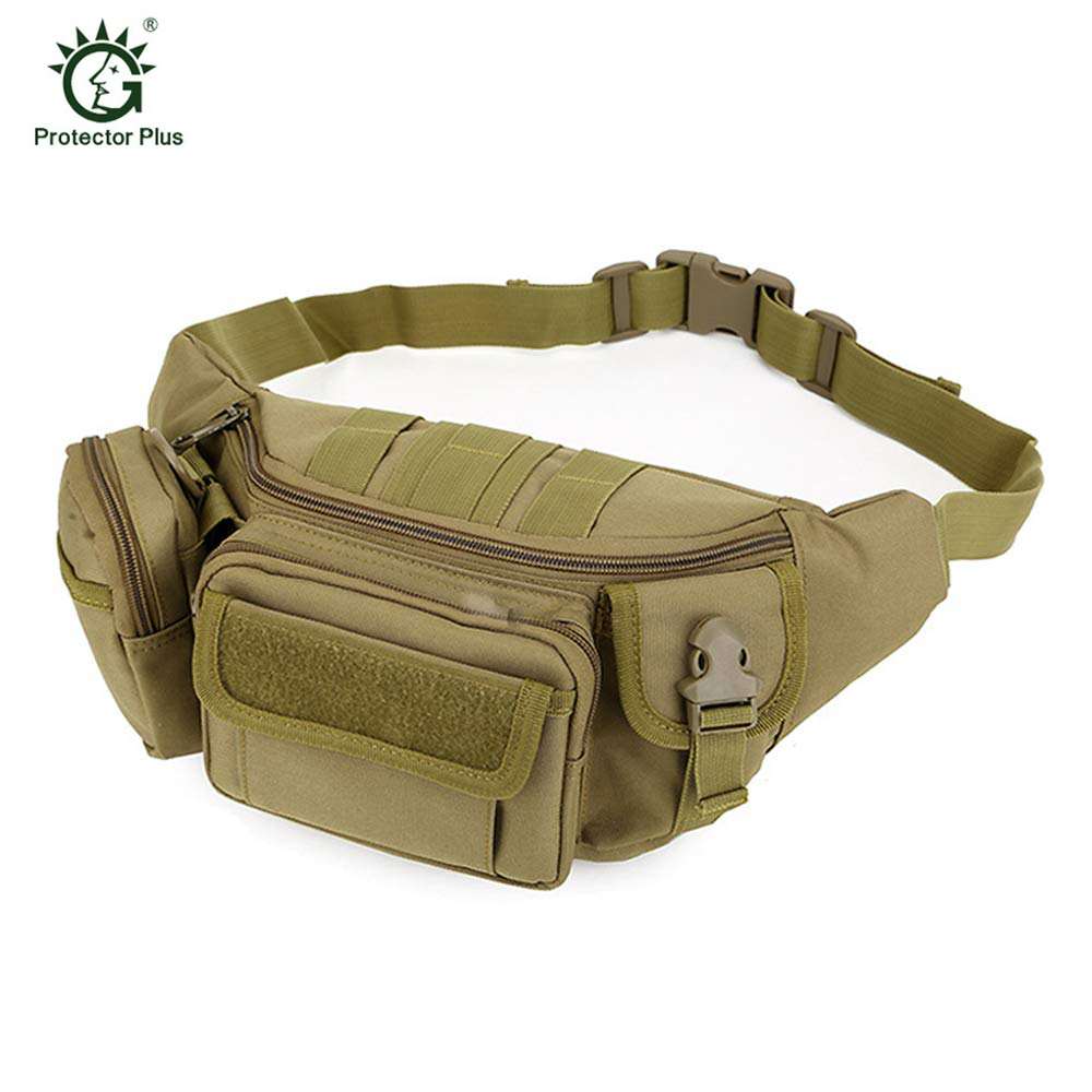 Military Fanny Pack Tactical Waist Bag Pack Water-Resistant Hip Belt Bag Pouch Hiking Climbing Outdoor Bumbag