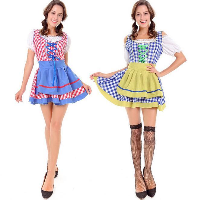 Adult Greaser Babe Costumeinstyles.cn  sc 1 st  AliExpress.com & Womenu0027s 3 Pcs Dirndl Serving Wench Bavarian Beer Girl Oktoberfest ...