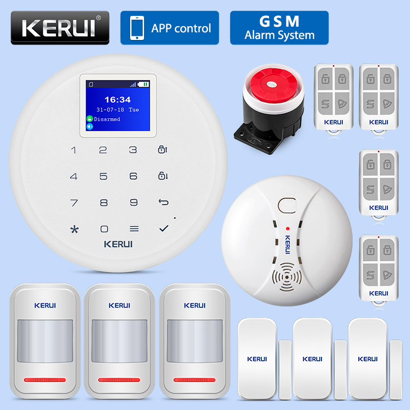 KERUI G17 Home Burglar Security Alarm System GSM Alarm Systems Security Home Wifi Home Anti theft