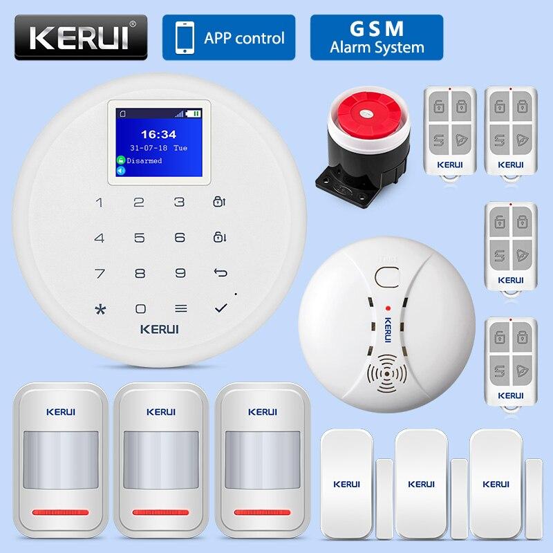 KERUI G17 système d'alarme de sécurité antivol à domicile systèmes d'alarme GSM sécurité à domicile Wifi système d'alarme de Protection antivol à domicile