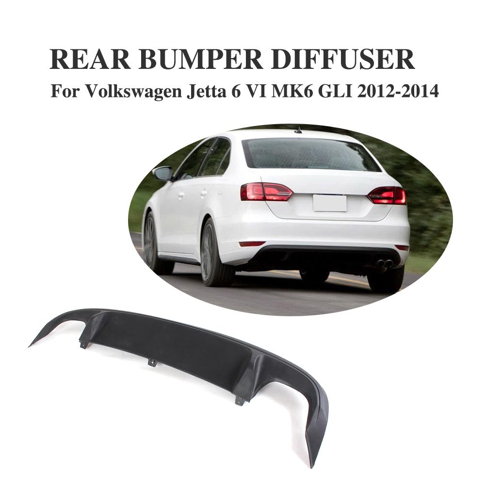 Rear Bumper Diffuser Spoiler Lip For Volkswagen VW Jetta 6 MK6 GLI 2012-2014 ABS Black Car Styling golf 6 mk6 gti racing grills abs car mesh grille for volkswagen vw jetta mk6 front bumper 11 13