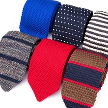 Mens Tie Knitted Knit Leisure Striped Woven Ties Fashion for Men Classic Designer Cravat Accessories Shirt Skinny Necktie