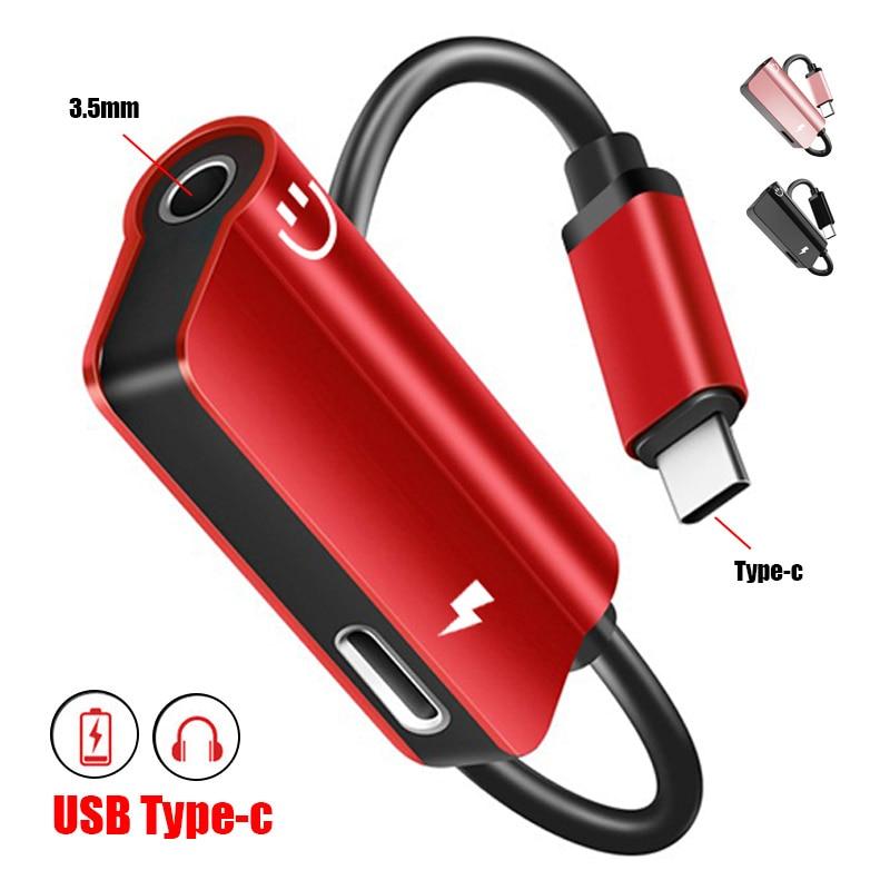 USB Type C Adapter Aux Audio Headphone Converter Typec On 3.5mm Earphone Jack Adapter For Huawei P 20 Pro Mate20 Lite Xiaomi Mi8