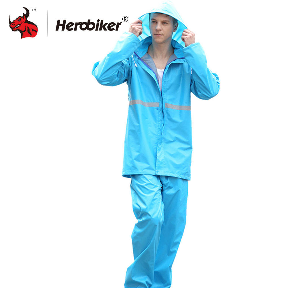 bad516266 HEROBIKER Unisex Suit Rain Coat Motorcycle Raincoat Camping Fishing Rain  Gear Poncho Impermeable Raincoat Motorbike Rain Suits-in Motorcycle Rider  Raincoat ...