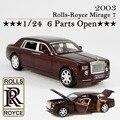 Rolls-royce Phantom Modelo 1:24 escala tire hacia atrás de metal modelo, sonido y luz de colección de juguetes de aleación modelo de coche para niños