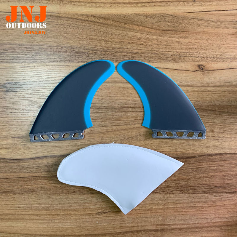 NEW Design hotsales homb fiber glass fins 2pcs a set XXL size surfing fins XXL twin