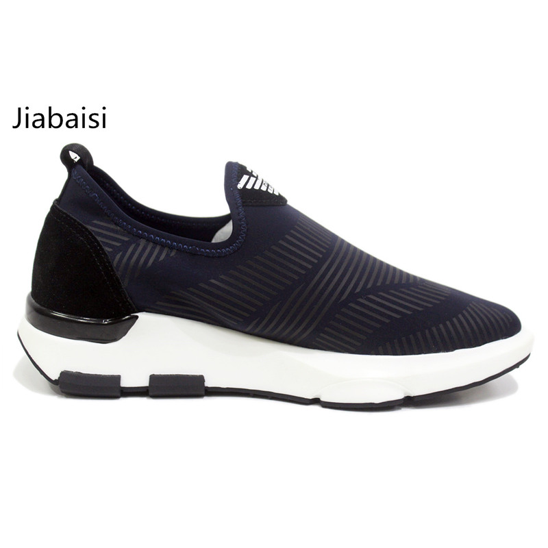 jiabaisi shoes men`s casual shoes 2017 leisure shoes Daily fashion comfort Lycra prints fabric and leather shoes JSB
