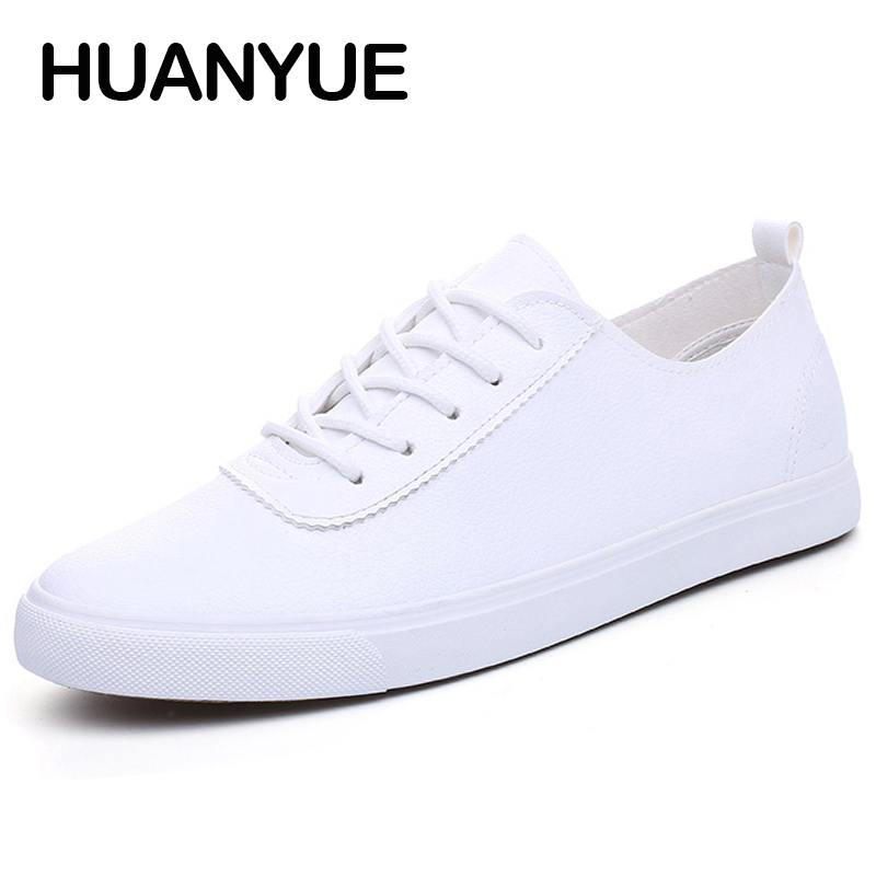 2018 New Summer Men Shoes Leather Breathable Men Casual Shoes Low Lace Up Men's Flat Shoes Zapatos Hombre Black White Male Shoe 2016 new spring and summer men s casual shoes flat shoes chaussure korean breathable men shoes zapatos hombre platform shoes