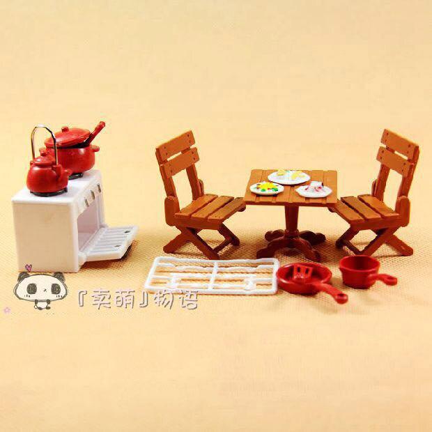 Giappone Original genuine rinfuse sylvanian tavoli e sedie Set di ...