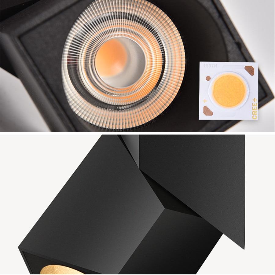 Rotação 90 CREE LED Downlight de Exposição Da Loja holofotes teto