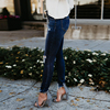 Women's ripped wash skinny jeans 4