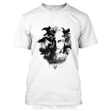 b5fa1957 New Vikings Tv Series Odin'S Raven Ragnar Lodbrok Short Sleeve Tops Mens  Cotton T-Shirt Hip Hop Tees
