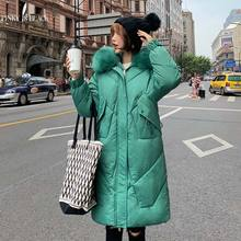PinkyIsBlack 2019 Winter Jacket Women Hooded Coat Fur Collar Thicken Warm Long Parkas Female Plus Size 3XL Outerwear Chaqueta wmswjh 2017 winter jacket women s coat plus size fur hooded parkas women slim quilted jackets thicken zipper warm outerwear