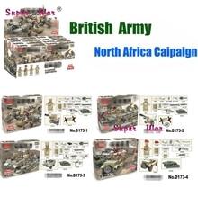Guerra mundial REINO UNIDO Britânico 2 8th Armas Militares Do Exército para o Norte Africano Modelo Blocos de Construção de Tijolos brinquedos para as crianças