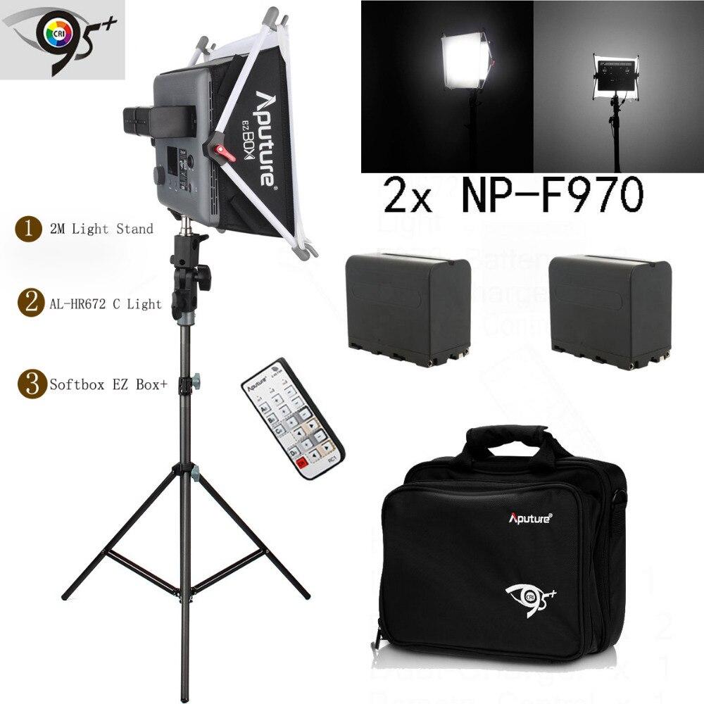 New Aputure AL-HR672 C LED Video Light Panel + EZ Box+ + Diffuser Softbox + Light Stand LED Barndoor Photographic LED Panel Lamp aroma al 1 stand lamp