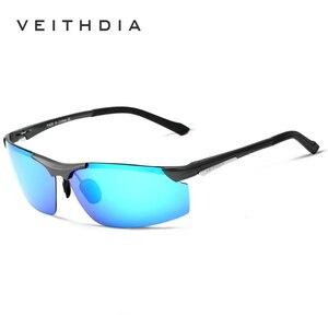 Image 2 - OCCHIALI DA SOLE VEITHDIA di Alluminio E Magnesio Occhiali Da Sole Polarizzati Degli Uomini del Rivestimento degli uomini Occhiali Da Sole A Specchio oculos Maschio Occhiali Per Gli Uomini 6511
