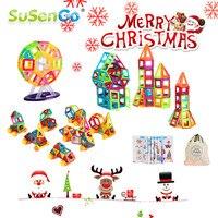 SuSenGo Mini Size 40 60 80 90 Piece Magnetic Designer Building Blocks Bricks 3D Construction Toys