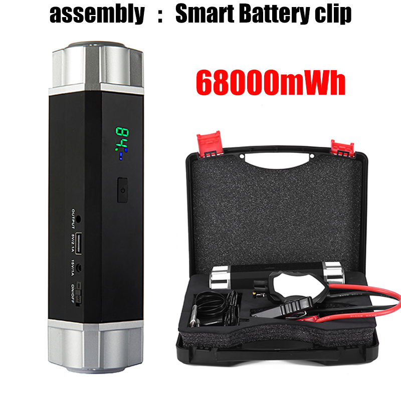 Petrol 8.0L Diesel 6.0L Multi-Function Portable Emergency Battery Charger Car Jump Starter Booster Power Bank Starting Device title=