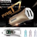 REMAX Mini Universal Dual Usb Car Charger universal 2 USB 5V 2.4A 1A 12V 24V cigarette lighter adapter for iPhone 5 6 7 samsung