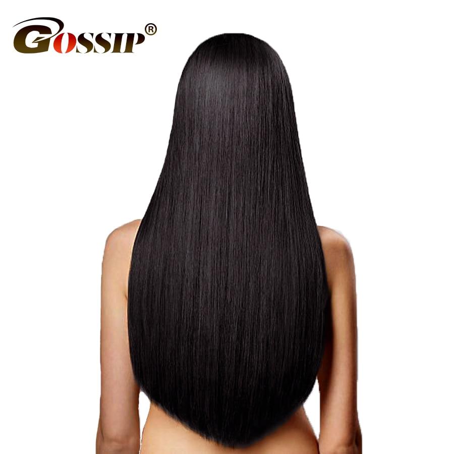 Gossip Peruvian Straight Hair Bundles 100% Human Hair Bundles Deal Peruvian Straight Human Hair Weave Non Remy Hair Extension
