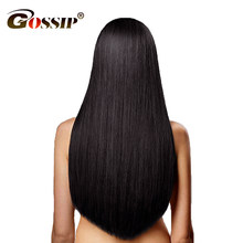Gossip Hair Weave Peruvian Straight Hair 3 Bundles 100 Human Hair Bundles Deal Peruvian Straight Human Hair Weave Extensions(China)