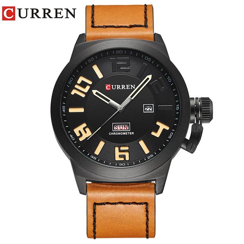 Curren Orologi 2017 orologio da uomo top brand di lusso relogio masculino Orologio Da Polso Al Quarzo cinturino in pelle 8270