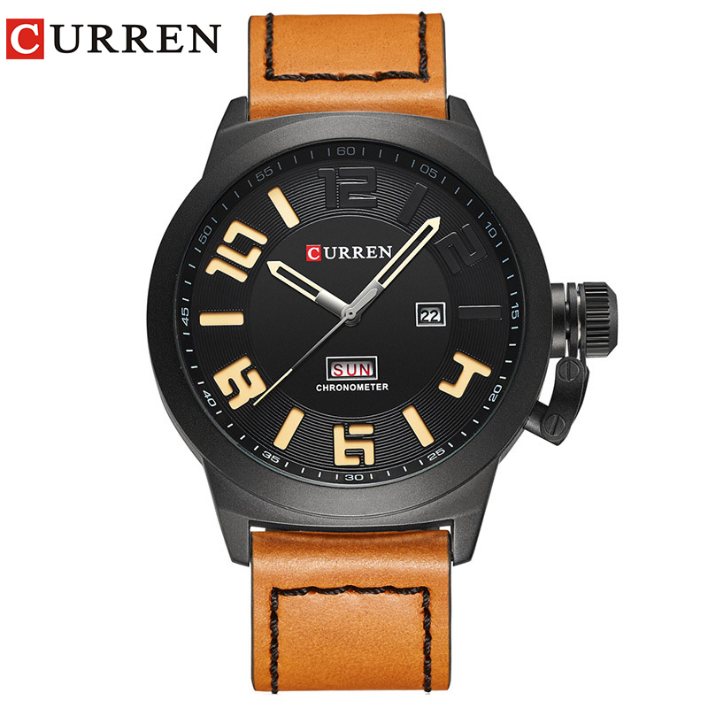 Curren Watches 2017 watch men top brand luxury relogio masculino Quartz Wristwatch leather band 8270 curren relogio watches 8103