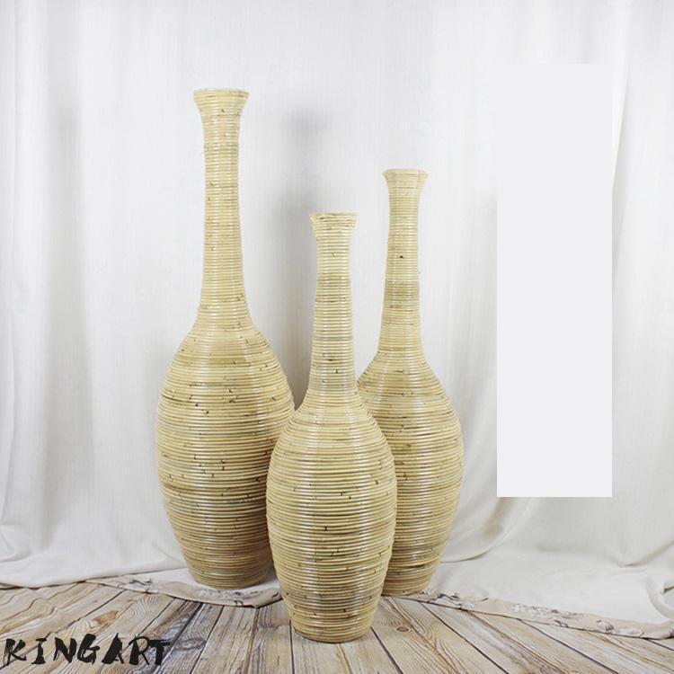 Bamboo Floor Vase Living Room