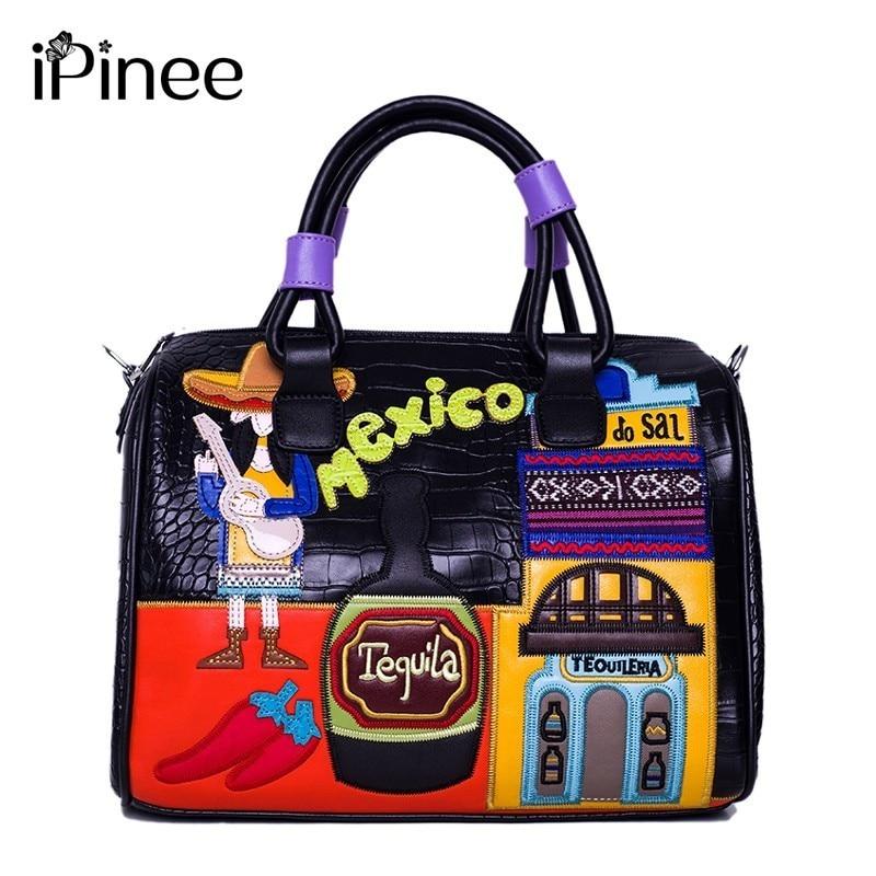 iPinee new delicate designed PU leather bag handbags women famous brands luxury shoulder bag bolsa feminina