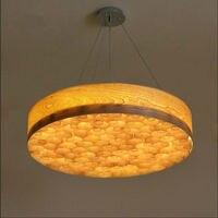 Southeast Asian stylu Chińskim drewno okrągłe lampy LED absorbują światło kopuły dia 50/60 cm indywidualność kory drewna wisiorek lampy 110 v-260 v
