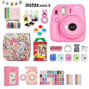Image 2 - Fujifilm Instax Mini 9 cámara de fotos instantáneas, 5 colores, película arcoíris, Kit de accesorios, funda de PU, álbum, filtro de lente, pegatinas, Marco