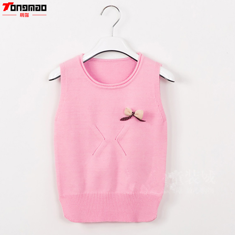 2018 Spring And Autumn New Children Girls Sweaters Casual O-neck Wool Knitted Clothes Warm Cashmere Pullovers Vest Kids Clothing