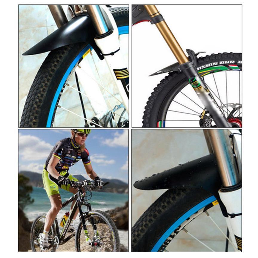 1Pair Black Bicycle Lightest  MTB Mud Guards Tire Tyre Mudguard For Bike FenderA