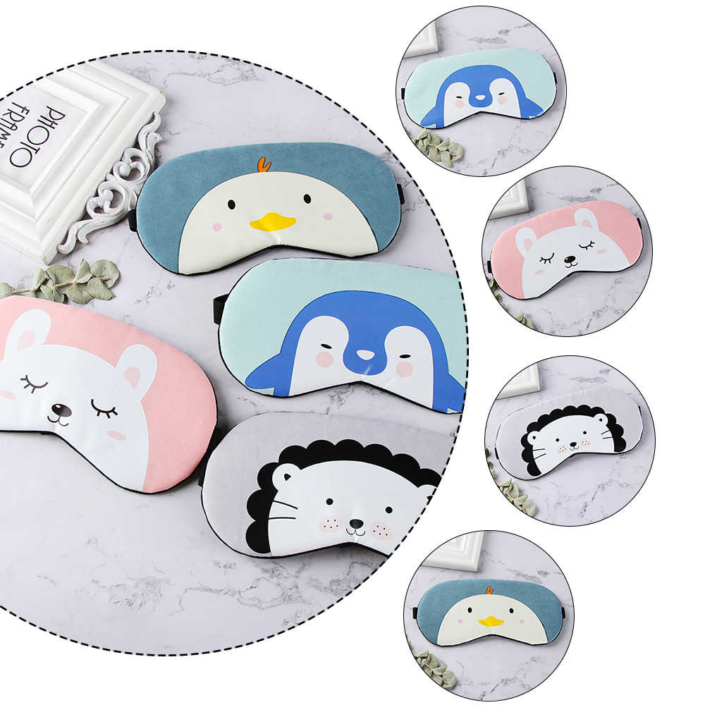 1 pcCartoon สัตว์น่ารัก Sleep Eye Mask Eyeshade Blindfold Sleeping Aid Patch Travel นวดผ่อนคลาย Blindfold Eye Patch