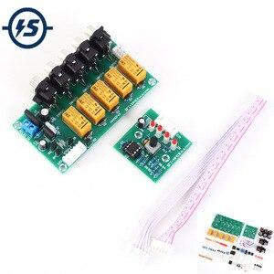 Módulo seletor de sinal de entrada de áudio 4 em 1 para fora relé placa de comutação seleciona amplificador módulo de sinal de vídeo de som kit diy