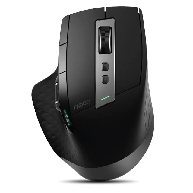 Rapoo MT750PRO/W Rechargeable Multi mode Wireless Mouse Easy Switch between Bluetooth and 2.4G up to 4 Device for Computer Phone