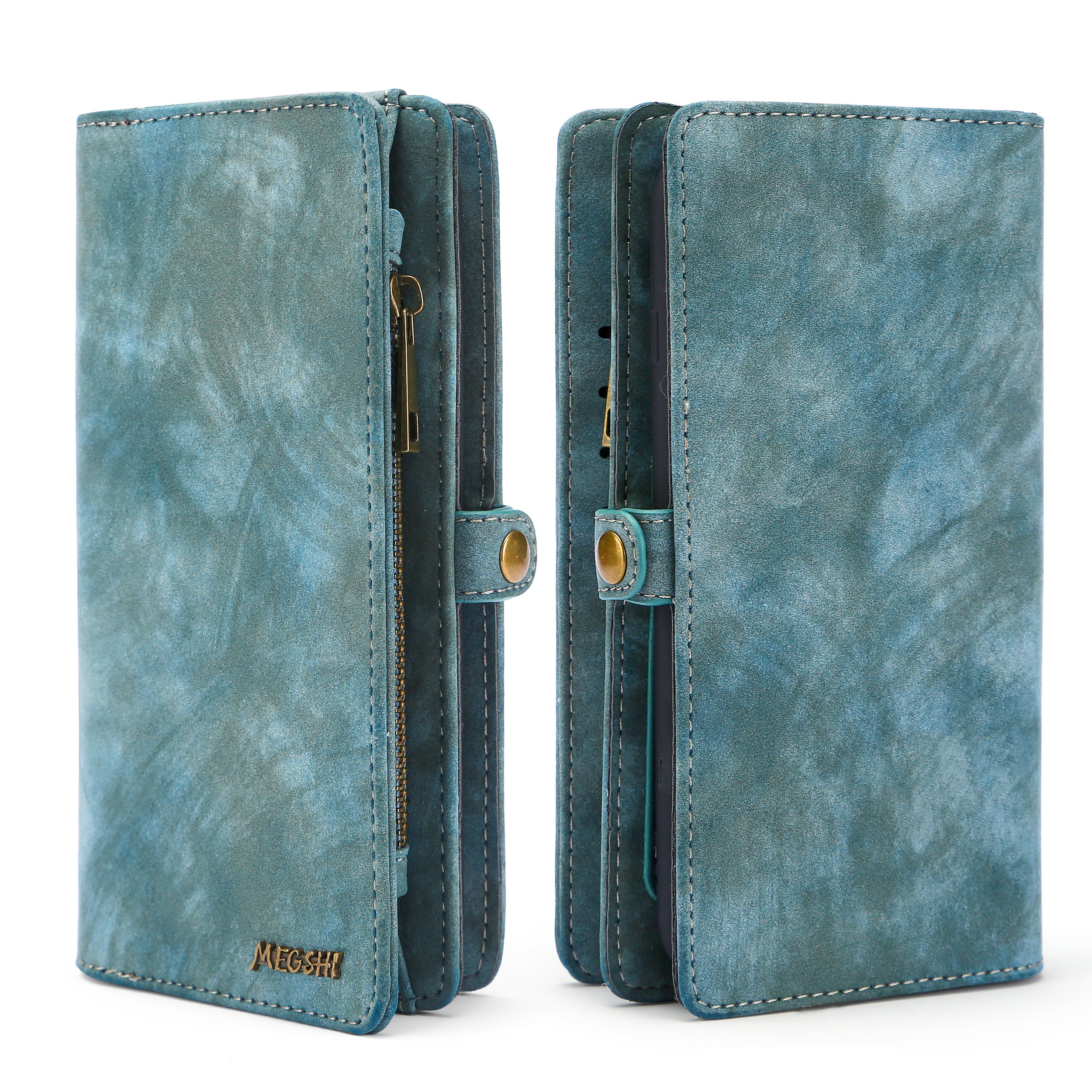 Business Wallet  Multifunctional Zipper Case Detachable Magnetic Back Cover Luxury Leather For HUAWEI MATE20
