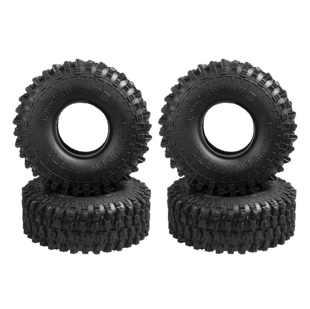 4pcs 120MM 1.9'' Truck Tire & Wheel For 1:10 RC Rock Crawler Wheels SCX10 90047 D90 D110 TF2 Traxxas TRX-4 Model Accessory 4pcs 120mm 1 9 rubber rocks tyres wheel tires for 1 10 rc rock crawler axial scx10 90047 d90 d110 tf2 traxxas trx 4