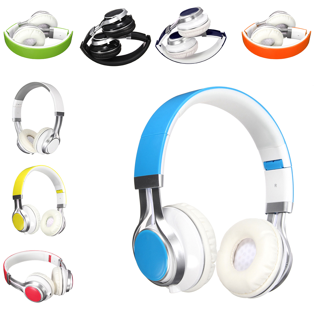 2016 Hot Sale Stylish Best Headphones Fold Stereo Surround 3.5mm Headband Headset For Samsung For HTC With Microphone