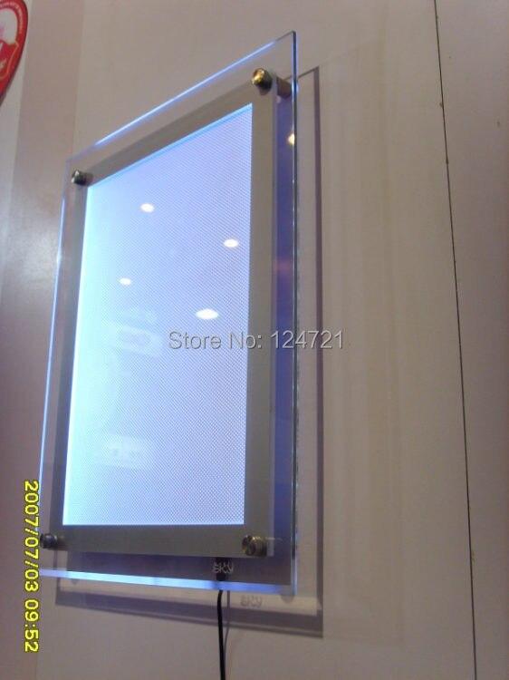 moldura de acrilico dupla face a4 led display 02