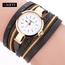 Gaiety brand luxury gold watches women fashion bracelet watch ladies leather vintage quartz wristwatches casual clock.jpg 250x250