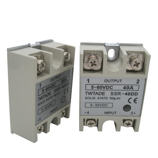 US $3 83 |TWTADE/High quality Single Phase solid state relay SSR 40DD 40A  actually 3 32 DC TO 5 60 DC SSR 40DD relay solid state -in Relays from Home