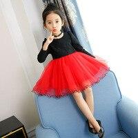 Autumn Winter Spring Kids Girls Long Sleeve Tutu Dress Girl Lace Party Dresses Children Velvet Princess