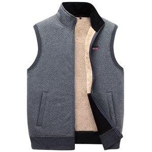 Image 5 - ICPANS Winter Thick Cotton Vests Mens Loose Thicken Fleece Vest Waistcoat  Mens Outerwear Men Coats Plus Size XXXXXL