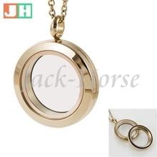 Jackhorse водонепроницаемый медальон с фокусным расстоянием 25 мм-30 мм розовый золотой медальон 316L из нержавеющей стали стеклянный медальон