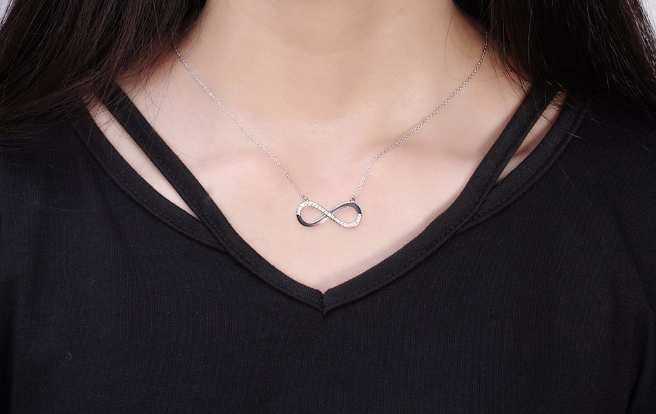 Infinity Shape Silver Plated Necklace