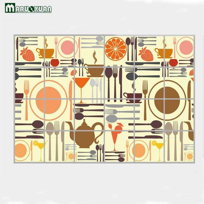 Maruoaun Творческий Приспособления узор Кухня стены Стикеры анти нефти Высокое качество  ...
