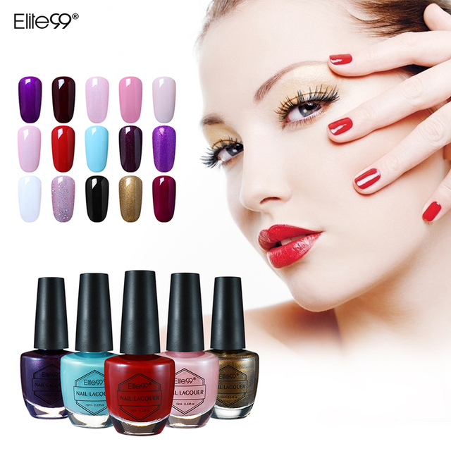 Elite99 8 Colors Available 10ml Nail Lacquer Colorful Finger Nail ...